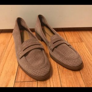 Lucky Brand Caylon Loafers Tan Beige Leather 7 7M